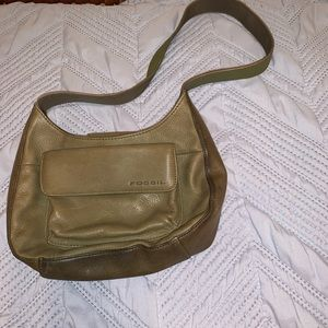 Fossil olive leather purse